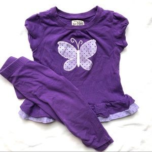 Children's Place 18 Month Purple Butterfly Outfit